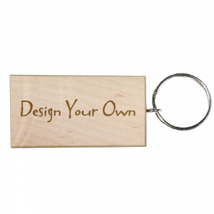 Design Your Own | Personalised Maple Rectangle Keyring | Perfect Gift / Present |